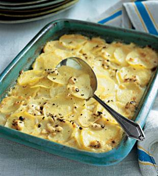 Potato and Goat Cheese Gratin - Vegipes!